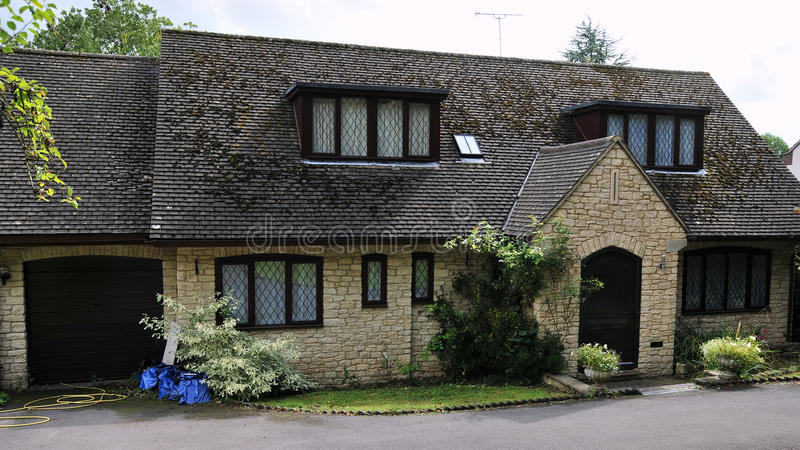 English Cottage. Exterior of a Suburban English Cottage royalty free stock photos