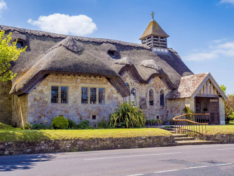 English cottage church. An english cottage church in the countryside on the Isle Of Wight England UK royalty free stock image