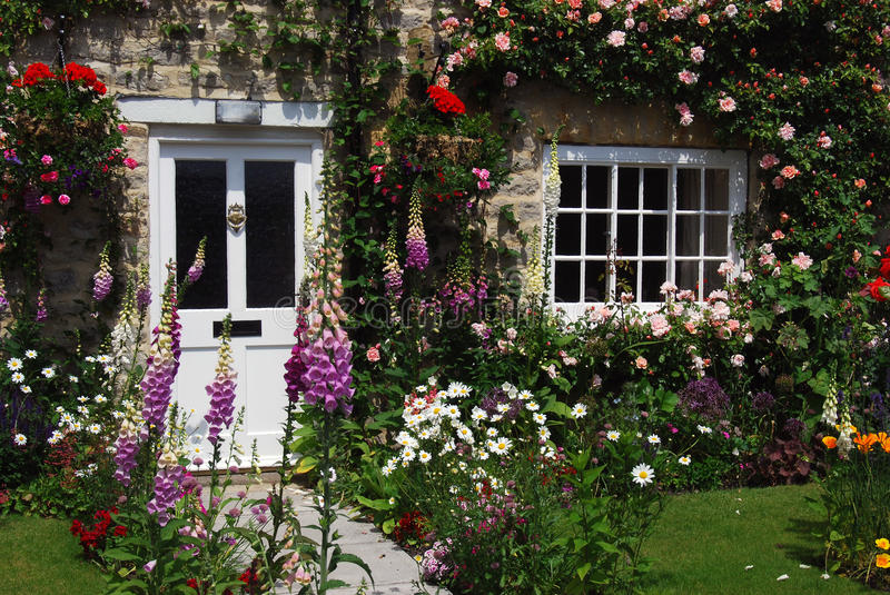 English cottage garden royalty free stock photo