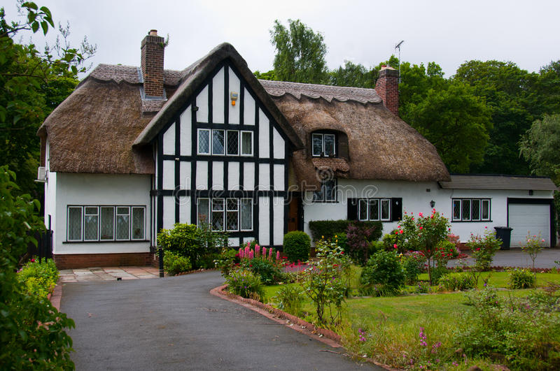 English Country Cottage stock image