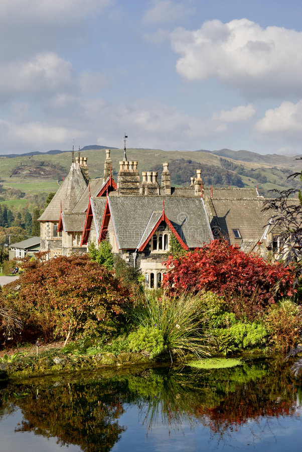 English Country Estate in Autu royalty free stock photo