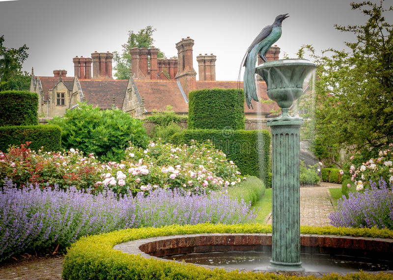 English Country Garden. A close up of a shut gate in an English Sussex country garden royalty free stock photography