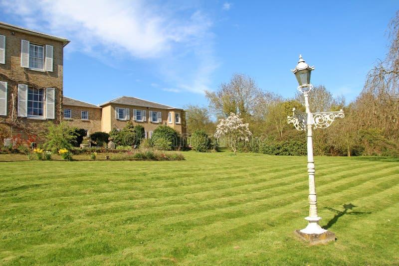 English country garden lamp stock photo