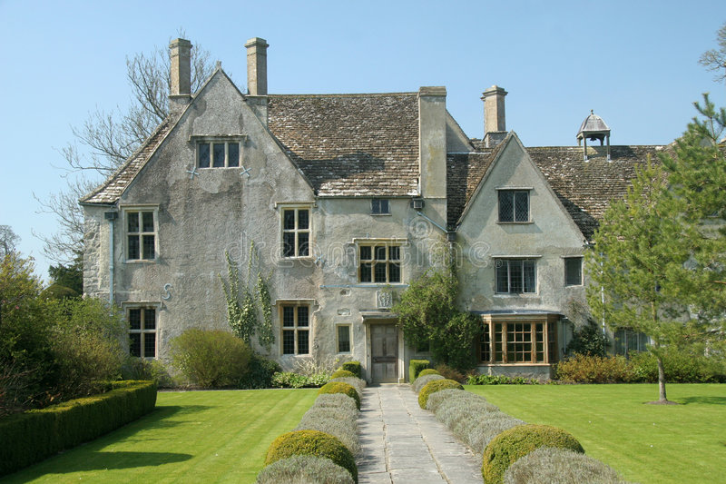 English country house. English Tudor country house dating back to sixteenth Century stock images