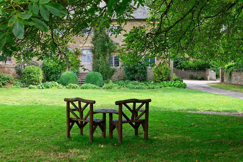 An English country house and garden royalty free stock image
