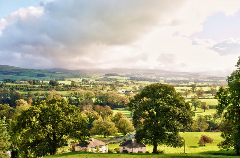 English countryside in Autumn. Near Kirkby Lonsdale, Cumbria royalty free stock photography