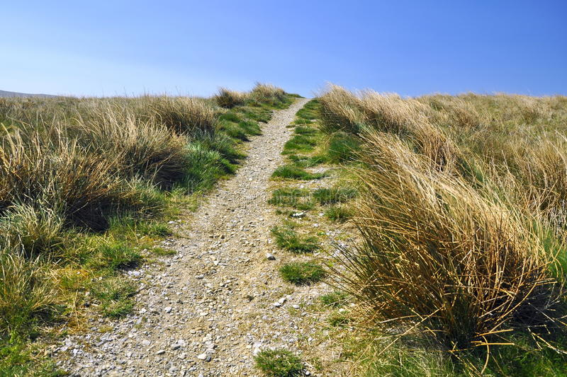 English Countryside: Footpath, Grass, Blue Sky Royalty Free Stock Photography
