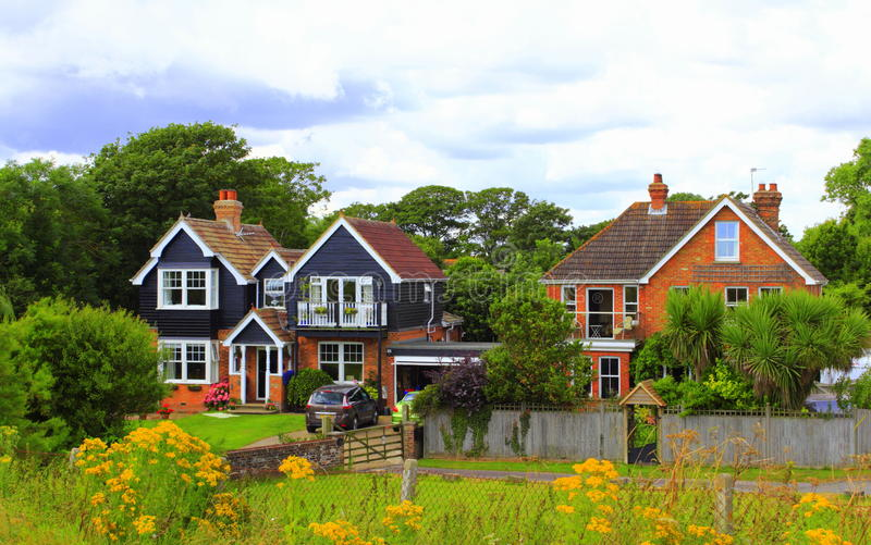 English countryside houses royalty free stock photo