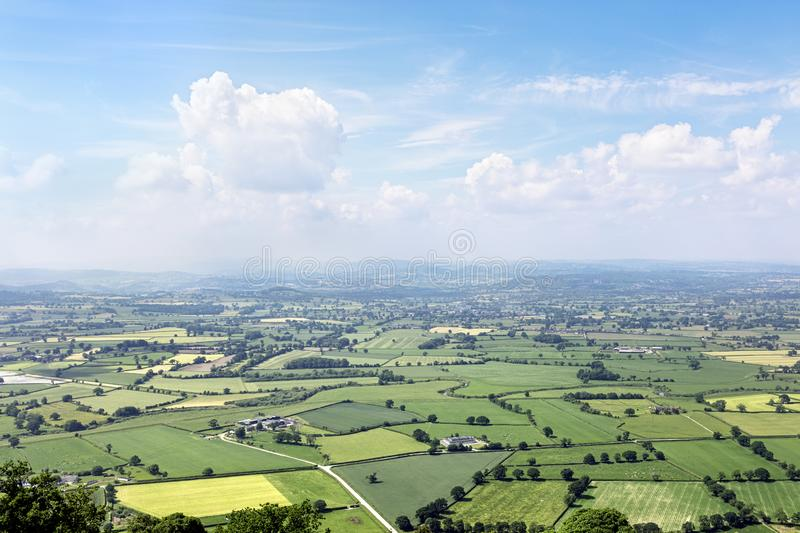England countryside landscape panorama royalty free stock photography
