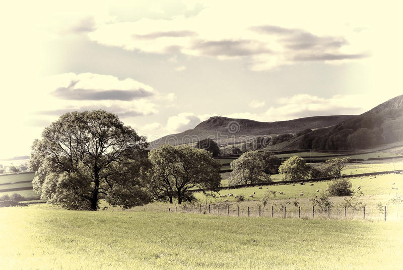 English countryside scene stock photography