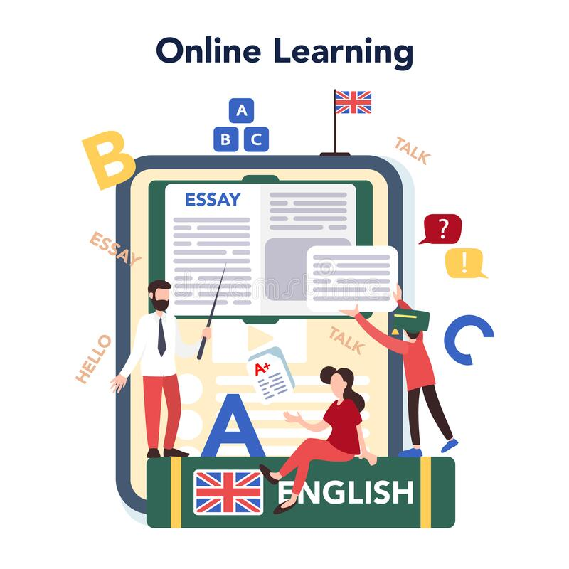 Free English Course Online Service Or Platform. Study Foreign Languages Royalty Free Stock Photo - 184132375