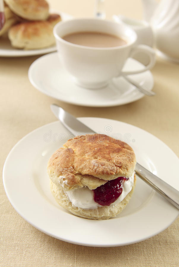 English Cream Tea Royalty Free Stock Photography
