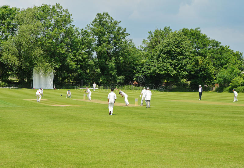 An English Cricket Match royalty free stock image