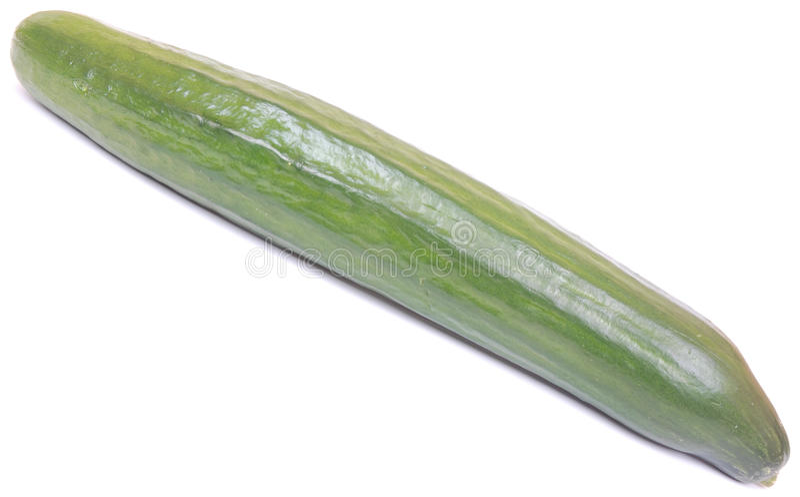 English cucumber on white stock photo