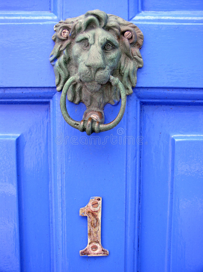 English door (number one) royalty free stock photo