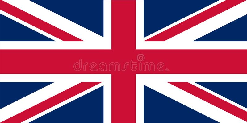 English Flag - United Kingdom of Great Britain. Flat vector illustration EPS10.  stock illustration