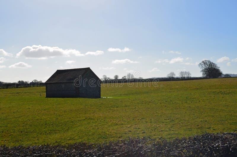 English flint barn. stock photos