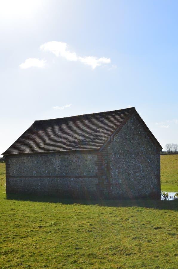 English flint barn. royalty free stock images