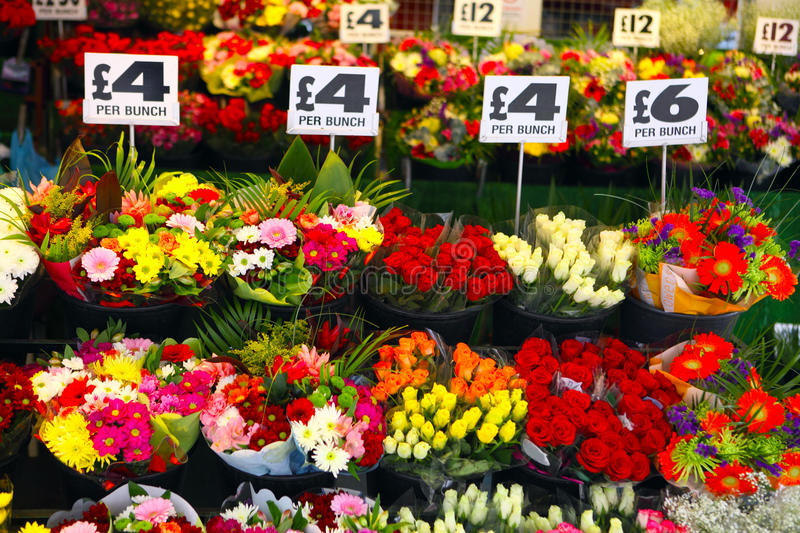 English flower stall royalty free stock images