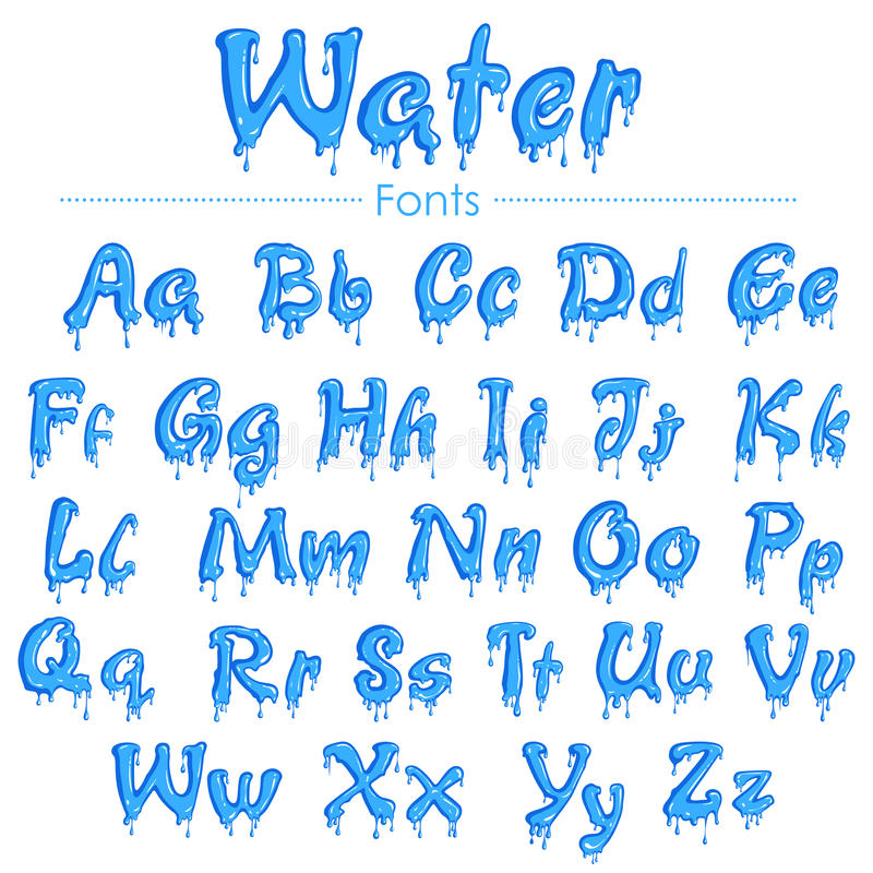 water droplet font