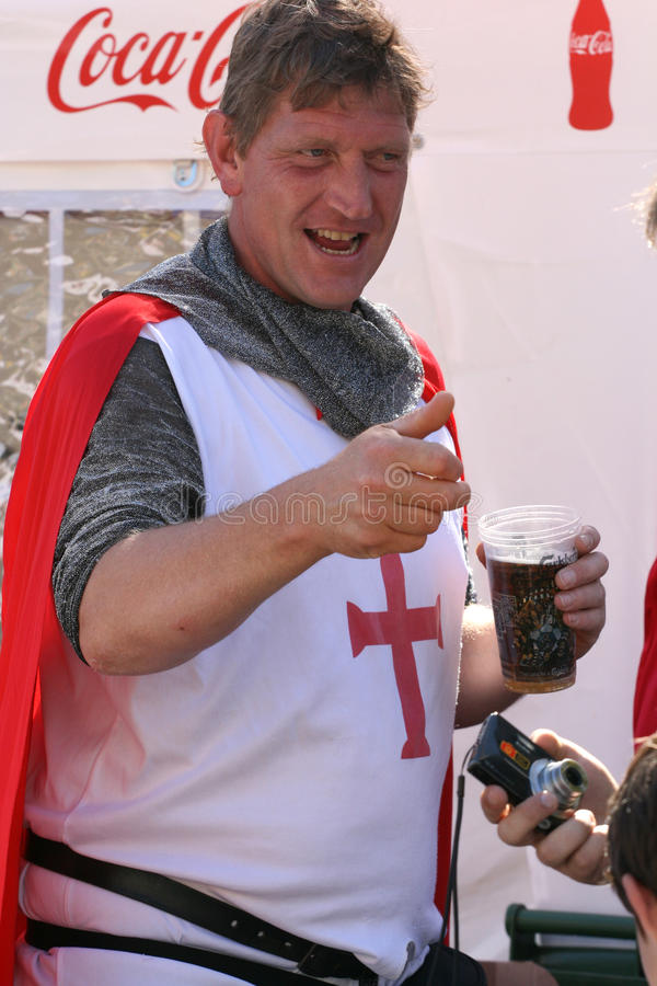 English football fan royalty free stock image