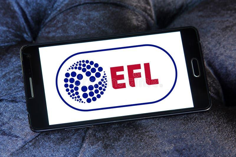 English Football League, EFL, logo. Logo of English Football League, EFL, on samsung mobile. The English Football League EFL is a league competition featuring royalty free stock photos