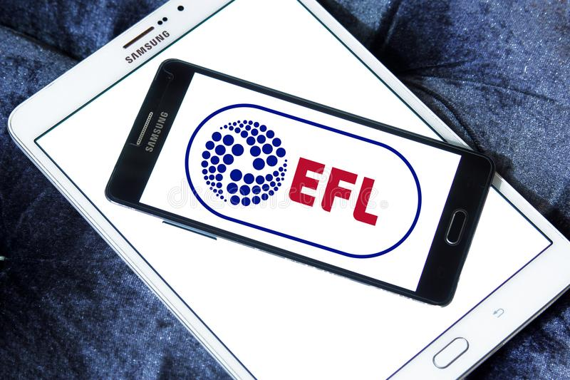 English Football League, EFL, logo. Logo of English Football League, EFL, on samsung mobile. The English Football League EFL is a league competition featuring stock image