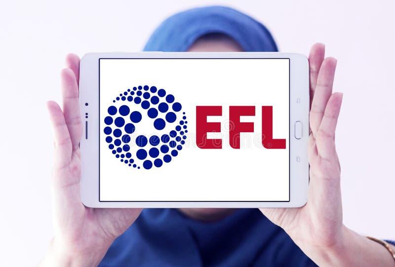 English Football League, EFL, logo. Logo of English Football League, EFL, on samsung tablet holded by arab muslim woman. The English Football League EFL is a stock photo