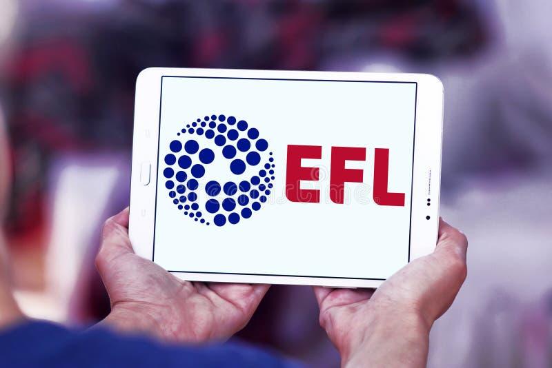 English Football League, EFL, logo. Logo of English Football League, EFL, on samsung tablet. The English Football League EFL is a league competition featuring royalty free stock image