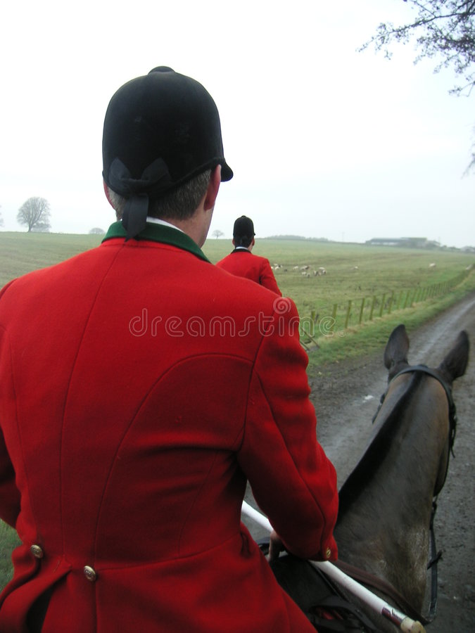 English Foxhound Master And Huntsman Stock Images