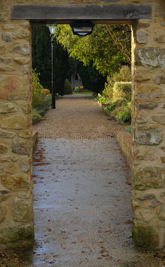 Download English Garden Passage stock image. Image of fantasy, protect - 725587