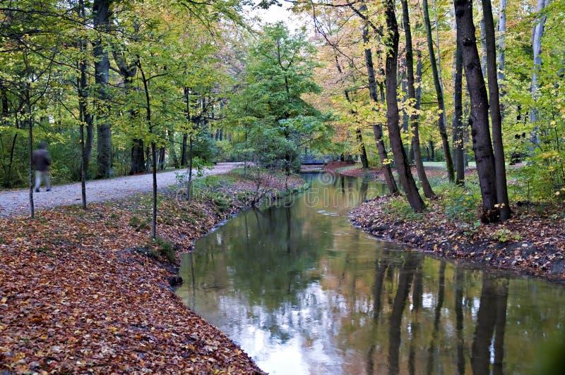 English gardens, Munich stock photos
