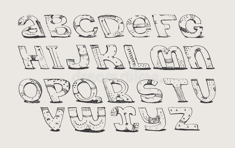 Download English Hand Drawn Funky Font From A To Z Calligraphy Made With Nib