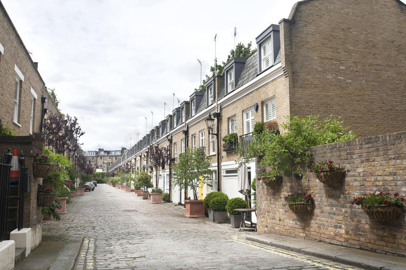 Download English houses stock image. Image of city, britain, estate - 25393015