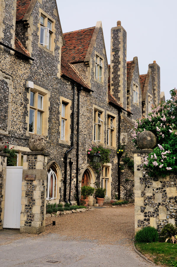 English Houses in Canterbury. Typically English houses near the Cathedral of Canterbury, United Kingdom stock photo