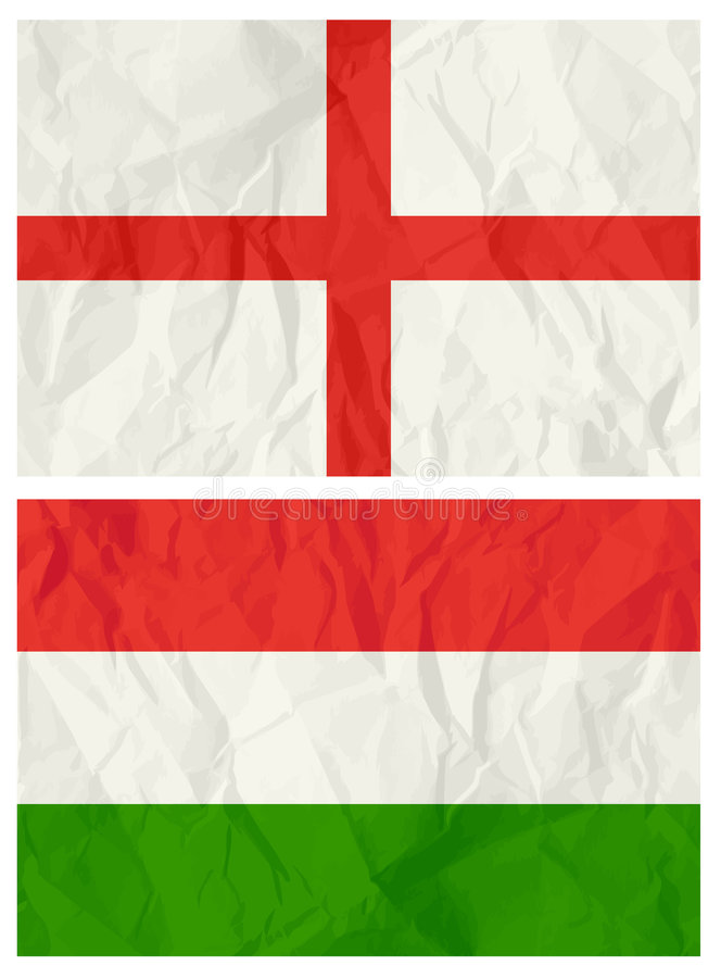 English and Hungary flag. Vector illustration vector illustration