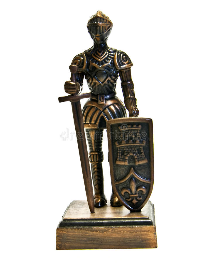 English knight, figurine stock image