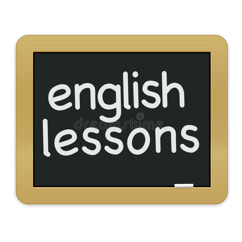 English Lessons Chalkboard EPS