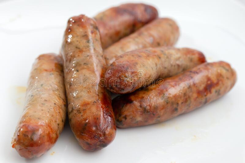 English Lincolnshire ppork sausages royalty free stock image