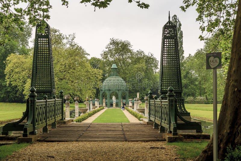 English Park in Chantilly stock photos
