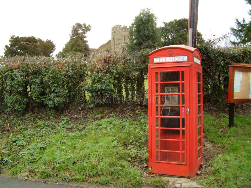 Download English Phone Box stock photo. Image of telephone, village - 27344