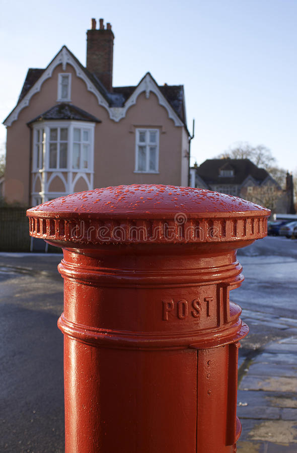 Download English Post Box stock photo. Image of mail, victorian - 13112842