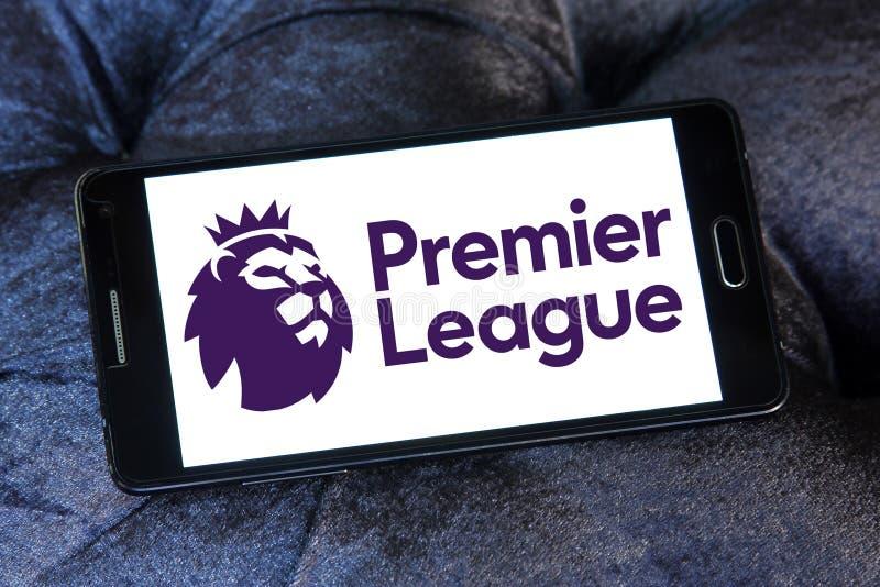English premier league logo. Logo of english premier league on samsung mobile phone royalty free stock images