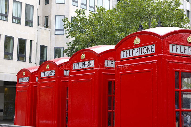 Download English Red Telephone Boxes Stock Photo - Image: 3215024
