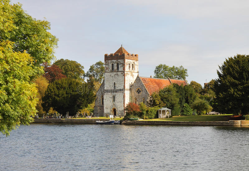 English Riverside Church stock images