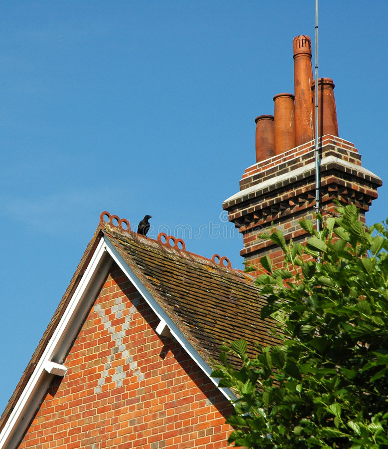 English rooftop royalty free stock photos