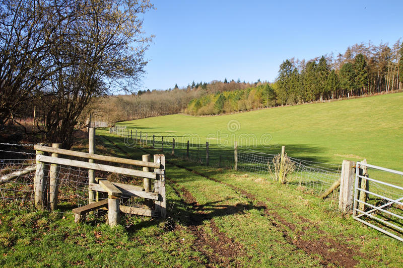 Download English Rural Landscape With Stile By A Farm Track Stock Image - Image: 18269951