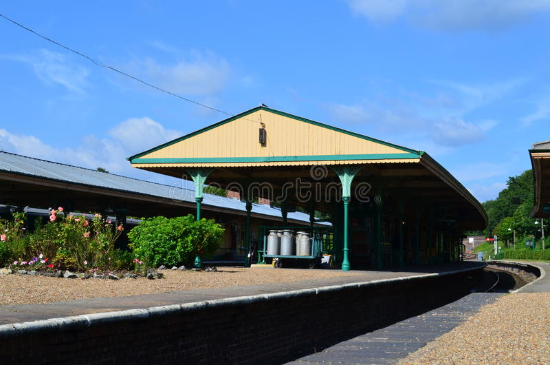 English Rural Railway Platform Stock Images