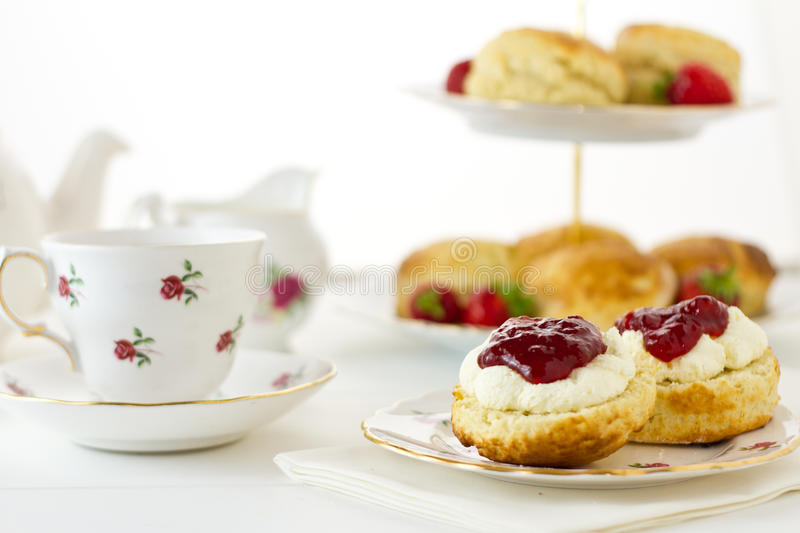 English Scones, Devonshire style royalty free stock photography