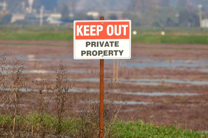 Private Property Keep Out Sign royalty free stock image